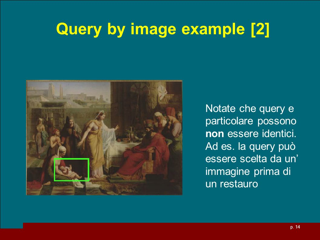 Query by image example [2]